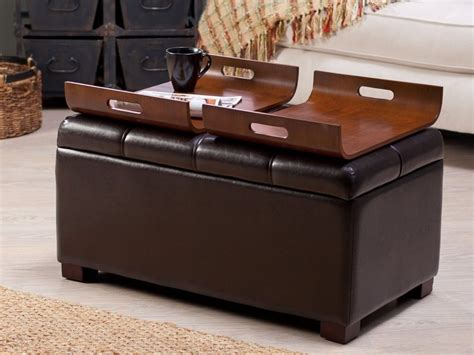 ottoman with tray table ottoman coffee table tray design images photos pictures