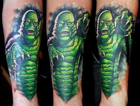 tattoo black and green green ink monster tattoo