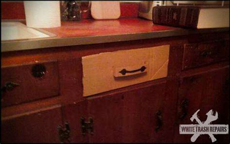 Kitchen Cabinet Drawer Repair by Kitchen Drawer Repair Whitetrashrepairs