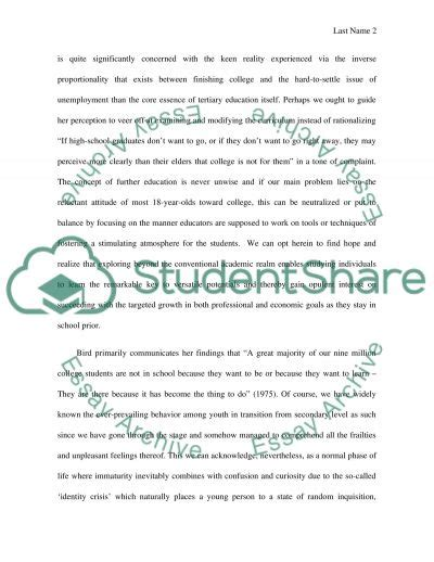 Essay On Time Is Money by College Is A Waste Of Time And Money By Caroline Bird Essay