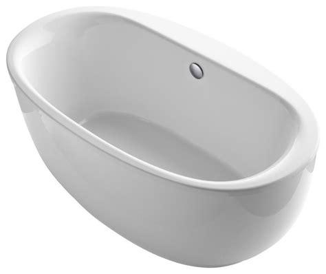 bathtub back support kohler k 6369 sunstruck 66 quot free standing bath tub with