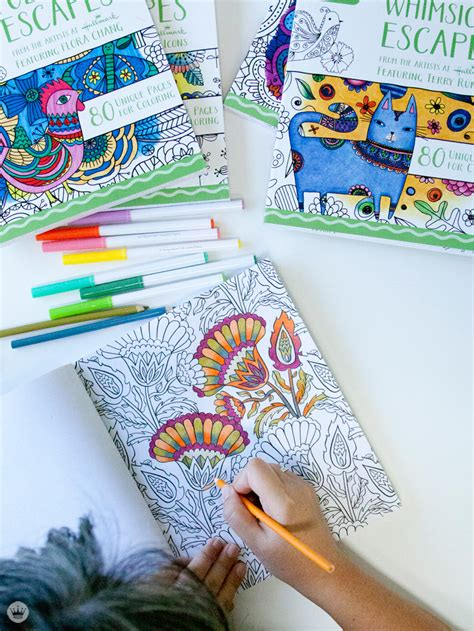 crayons colored pencils coloring book four books four new coloring books from hallmark and crayola think