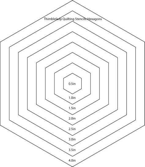 hexagon template for quilting 6 inch hexagon template quotes