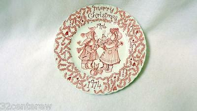 royal crownford merry christmas happy holiday plate norma sherman pink ebay