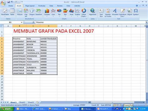 cara mudah membuat grafik line di excel 2007 untuk pemula membuat grafik pada excel 2007 ccurcol