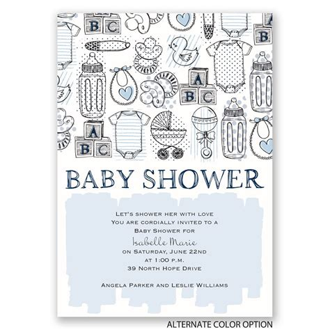 Baby Shower Necessities by The Necessities Baby Shower Invitation Invitations By
