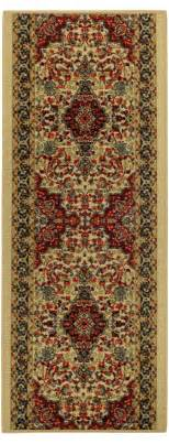 Rubber Backed Runner Rugs Custom Size Stair Hallway Runner Rug Rubber Back Non Skid Ivory Medallion 32 Ebay