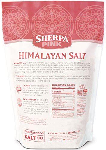 buy himalayan pink salt l sherpa pink himalayan salt 2lbs extra fine grain buy
