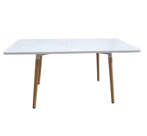 Wooden Rectangular Dining Table Bentley Home Retro Wooden White Rectangle Dining Table