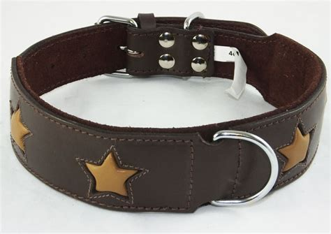 cheap collars brown leather wholesale collar with design small to big dogs