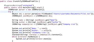 how to read json object from file in java crunchify