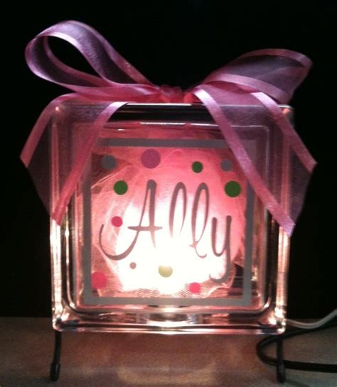 glass block lights lighted glass block crafts