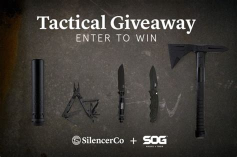 win some peace and quiet from silencerco and sog knives - Tactical Giveaway