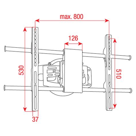 Terlaris Tv Bracket Adjustble Left And Right 1 3m Thick 200 X 200 dmt plb 3 adjustable bracket for 27 quot 50 quot plasma lcd