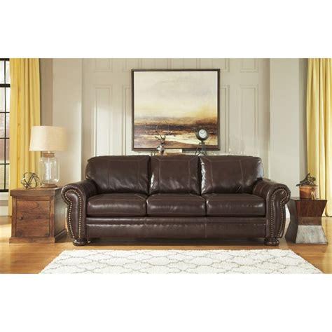 coffee leather sofa ashley banner leather sofa in coffee 5040438