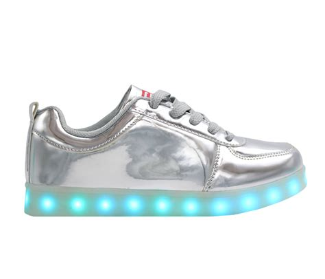 Shoes Glossy Led galaxy led shoes light up usb charging high top sneakers silver glossy galaxy led shoes
