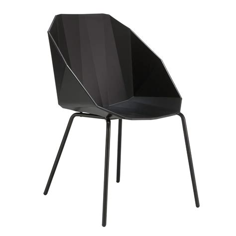 ligne roset rocher dining chair black black legs