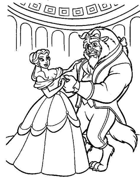 disney beauty and the beast coloring pages for education