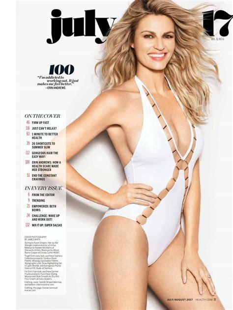 erin andrews erin andrews health magazine usa july august 2017 issue