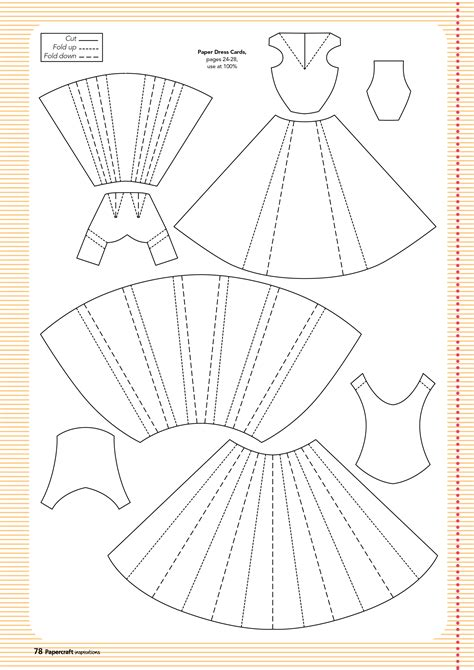How To Make Paper Patterns - free templates from papercraft inspirations 129