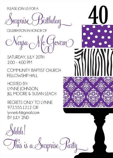 damask cake birthday party invitations adult by