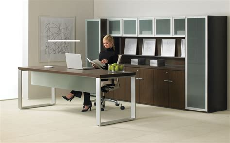 Teknion Expansion Desking by Teknion Executive Search Office Furniture