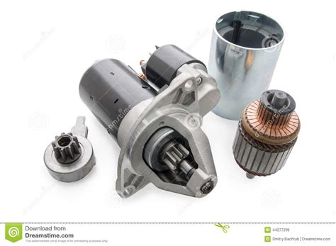 Spare Part It starter for car and spare parts to it stock photo image