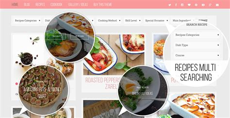 themes wordpress food food factory food recipes cookbook wordpress theme