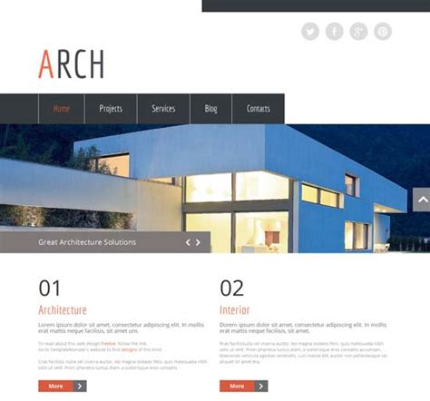 50 Free Responsive Html5 Css3 Website Templates Freshdesignweb Architecture Website Templates Free
