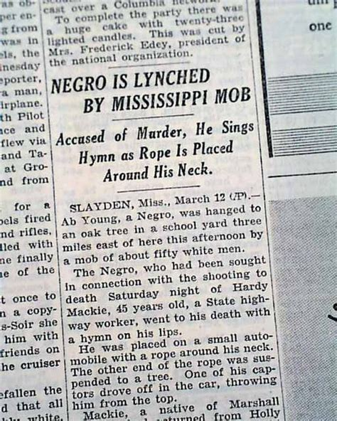 raymond hennessey lynching in mississippi slayden mississippi negro