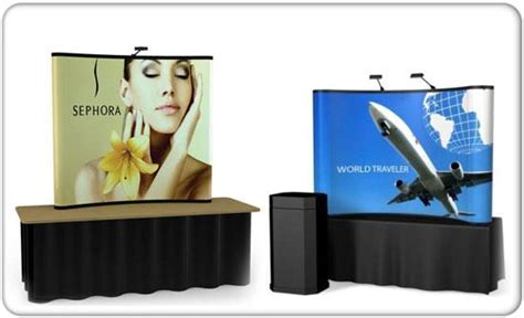 table top exhibit displays tabletop trade show pop up displays table top banner