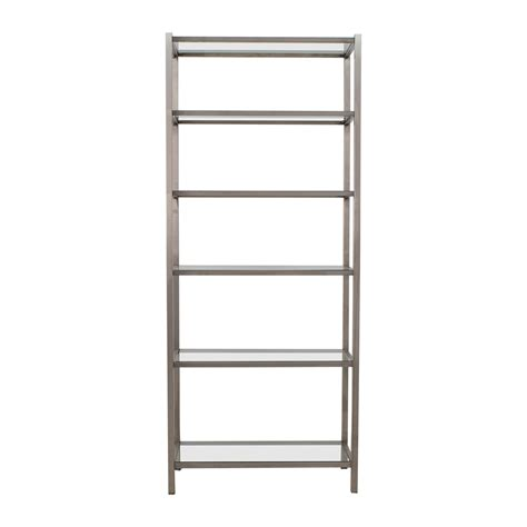 room and board bookcase 34 room board room board brixton modern glass and metal bookcase storage