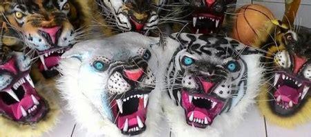 Topeng Macan Harimau By Sido Dadi gambar jangan lupa nonton tradisi lokal kesenian asli jawa