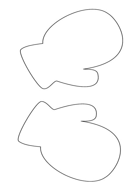 preschool mittens coloring page mitten pattern large template winter season coloring