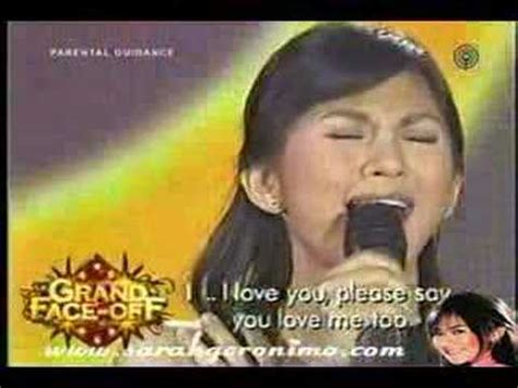 watch sarah geronimos i love you message for matteo sarah geronimo i love you youtube
