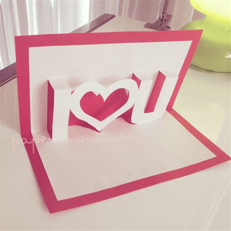Handmade Pop Up Cards Tutorials - pop up valentines card template i u card templates