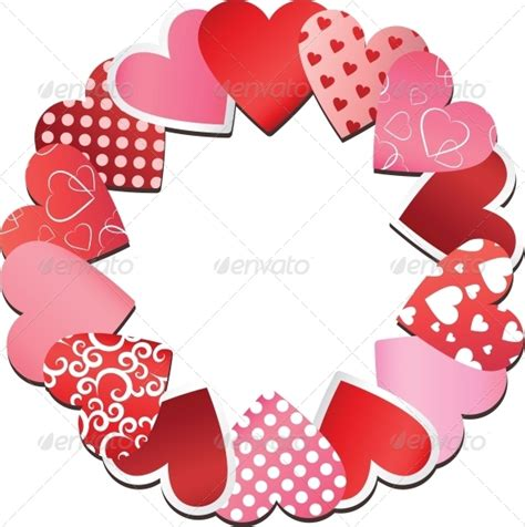 valentines frames 25 and season vector graphics 14th feb