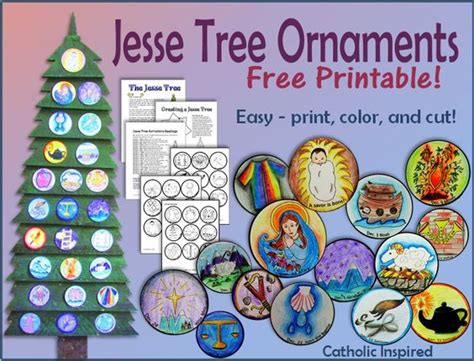 printable ornaments for catholic kids printable tree ornaments free and easy catholiccrafts catholic inspired catholic