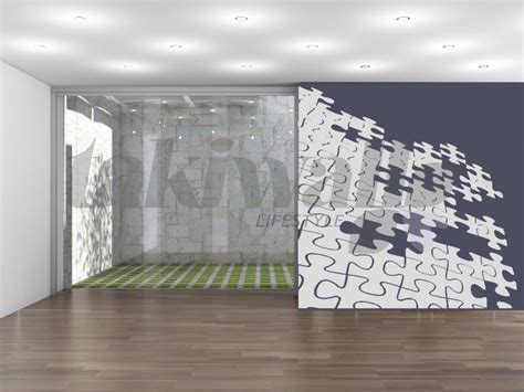 interior layout crossword puzzle 3 d abstract print wall sticker shop doha qatar