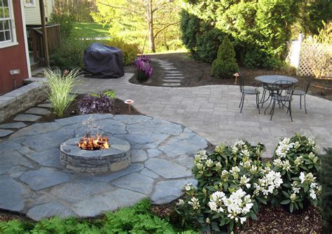 Nh Landscaping Designs Of Patios Fire Pits Natural Stone Patio Designs With Pits