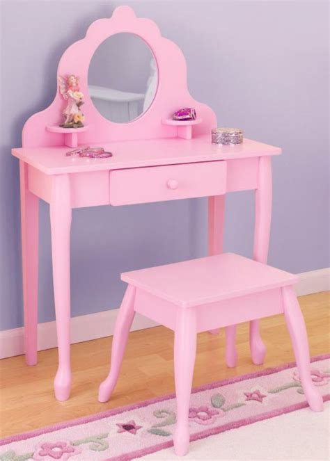 Play Vanity Table kidkraft pink mirror vanity table stool play set