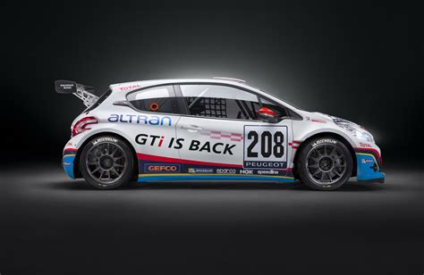 peugeot sports peugeot 208 gti sport to participate in 2013 vln chionship