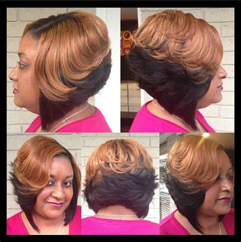 black hair sewin bobs i love this sew in bob style it pinterest sew ins