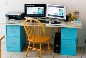 How To Make A Desk With File Cabinets How To Turn A File Cabinet Into A Desk Diy Projects For