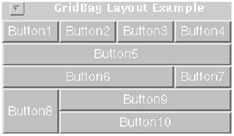 layout in java applet class java awt gridbaglayout