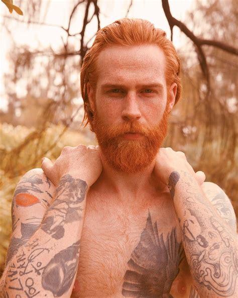 red beard tattoo gwilym pugh beard mustache beards bearded