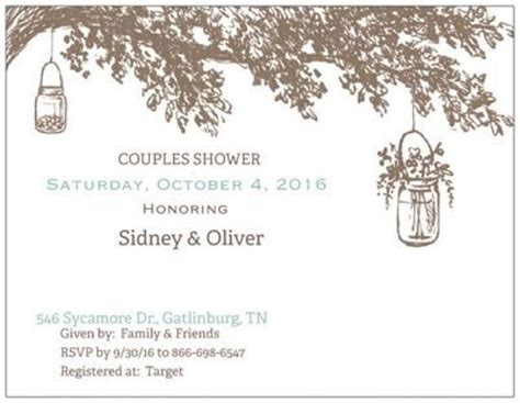 Gift Card Tree For Wedding Shower - rustic woodland wedding invitations save the date tree initials engraved bridal shower