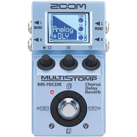 Zoom Multistomp zoom ms 70cdr chorus delay reverb for synths jim atwood in japan