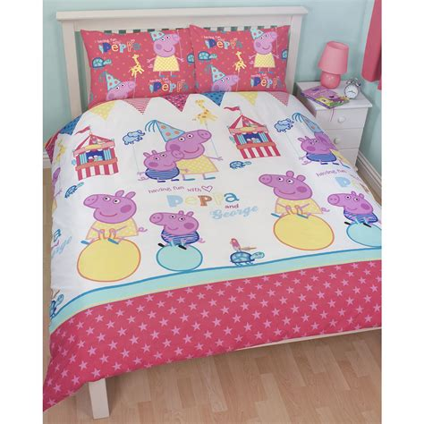 pig bedding peppa pig funfair bedroom range duvet covers junior