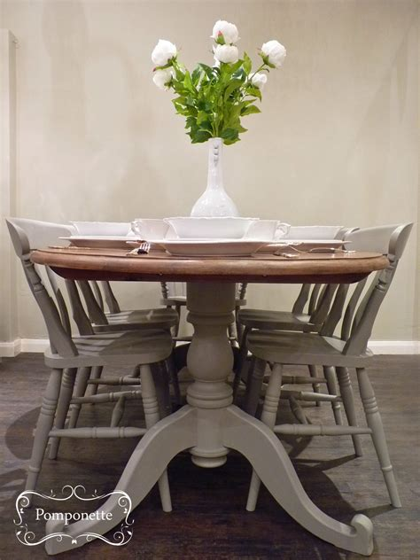 Painted Dining Table And Chairs Oval Dining Table Chairs By Pomponette Painted Furniture